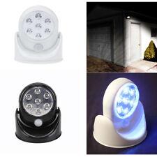 360° 7 LED PIR MOTION SENSOR CORDLESS SECURITY WALL LIGHT DOOR GARAGE CUPBOARD