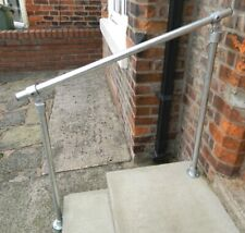 Tube Handrail Mobility Outdoor Garden Safety Rail Stairs Steps Door Galvanised
