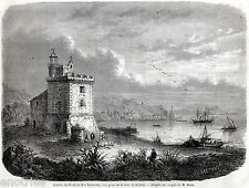Terracina: Arrivo del Re di Napoli Francesco II.Franceschiello.Risorgimento.1861