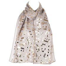 Musical Notes Chiffon Ladies Womens Scarf Shawl Wrap