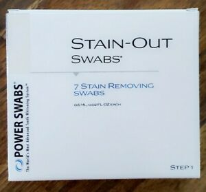 NEW Power Swabs Stain-Out Swabs for Teeth, 7 Tubes, Sheer Science, Step 1