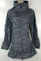 FULL BEAUTY SPORT Womens Gray Hooded Anorak Active Jacket Sz 12 Plus Size EUC
