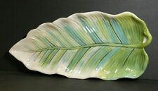 Fitz & Floyd Cockatoo Leaf Tray Platter