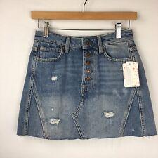 4152102e1 We The People Blue Denim Jean Skirt Distressed Mini Size 25