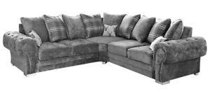 *SALE* Verona 2 Corner 2 Grey Scatter Back Corner Sofa- ASAP DELIVERY