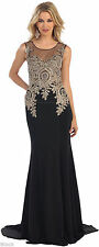 FLOOR SWEEPING PROM EVENING GOWN LONG STRETCHY DRESS BEAUTY PAGEANT & PLUS SIZE