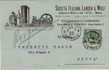 "#TORINO: testatina-SOC. ITALIANA LANGEN & WOLF- FABBRICA MOTORI A GAS ""OTTO"""