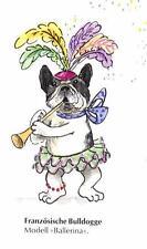 French Bulldog Dancer M - German Dog Print - MATTED / NEW
