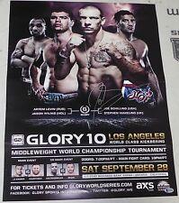 Joe Schilling Signed Glory 10 Kickboxing Event Poster BAS Beckett COA Autograph