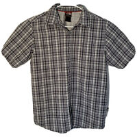 The North Face Mens 100% Cotton Short Sleeve S Button Up Pearl Snap Button Shirt