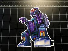 Transformers G1 Trypticon box art vinyl decal sticker Decepticon toy 1980's 80s