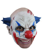 ZOMBIE CLOWN CHINLESS HEAD MASK WITH CHINSTRAP LATEX HORROR HALLOWEEN