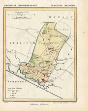 ANTIQUE MAP-NETHERLANDS-HEESWIJK-NOORD BRABANT-KUYPER-1865