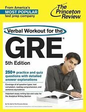 Verbal Workout for the GRE, 5th Edition (Graduate School Test-ExLibrary