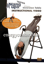 Inversion Table Instructional DVD Teeter Hang Ups  EP-550, DVD Only DVD Only