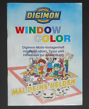 Window Color Digimon, Vorlagenheft, Digital Monsters, NEU