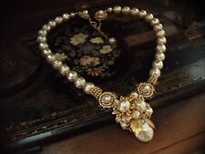 Vintage Jewellery Gold, Baroque Pearl & Seed Beads Necklace, Haskell Style