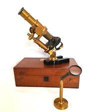 Microscope d'étude inclinable / attribué à la maison Boucart vers 1890