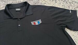 Chevrolet Nike Golf Polo Shirt Men Soze XL Black Camaro Logo Embroidered