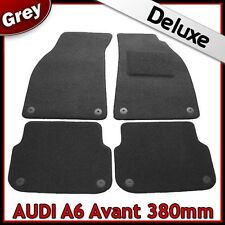 Audi A6 Avant Estate C6 2005-2011 380mm Tailored LUXURY 1300g Carpet Mats GREY