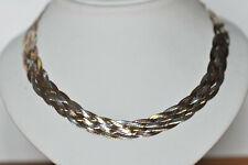 Echt 925 Sterling Silber Kette Collier 5 reihig geflochten 55cm Nr 504