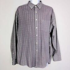 Van Heusen Mens Dress Shirt SZ 18 18 1/2 34 35 Gray Red Plaid Wrinkle Free MT42