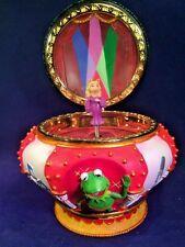 "Disney Muppets Spinning Miss Piggy ""Muppet Theme Tune Music Box"