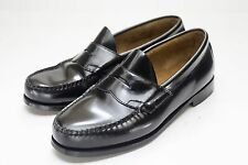 Bass Weejuns 10 Wide Black Penny Loafers Men's