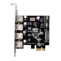 PCI-E to 4 Ports USB 3.0 HUB PCI Express Expansion Card Adapter for Desktop PC