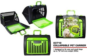 "Folded Portable Collapsible Pet Carrier For 12"" Cats & Small Dogs (Green)"