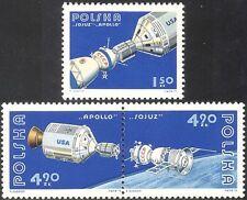 Poland 1975 Apollo/Soyuz/Space Link-up/Rockets/Science/Transport 3v set (n24237)