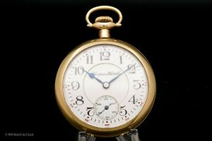 Hampden 16 Size 21 Jewel William McKinley Grade Antique Pocket Watch