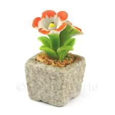Miniature Handmade Dual Coloured Ceramic Flower (cfd25)
