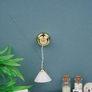 1:12 Brass battery LAMP Dollhouse miniature light U7I5