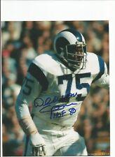 LA Rams Deacon Jones Autographed Photo w/ COA Fearsome Foursome