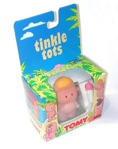 1990's Tomy Tinkle Tots ~ BLONDE BABY PEE PEE BOY DOLL with Bottle ~ BNIB MIB