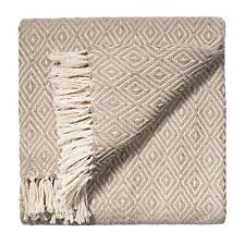 ⭐ Diamond Extra Soft Sofa Settee Arm Chair Bedspread Blanket Throw Silver Grey