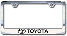 NEW Toyota Logo Chrome license Plate Frame with Engraved Letters (SET OF 2)