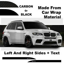 Side Skirt Stickers For BMW X5 X6 MX5 MX6 M Performance Black or Carbon Decals