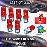 6 x ampoule veilleuse Feu LED W5W T10 ROUGE XENON 6500k voiture auto moto 5 smd