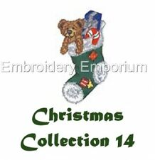 CHRISTMAS COLLECTION 14 - MACHINE EMBROIDERY DESIGNS ON CD OR USB