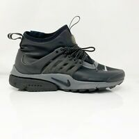 Nike Womens Air Presto Mid Utility 859527-002 Black Running Shoes Lace Up Size 7