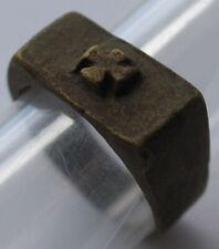 wwII GERMAN Ring IRON Cross WW2 or WW1 wwI GERMANY Soldier's Jewelry Bronze
