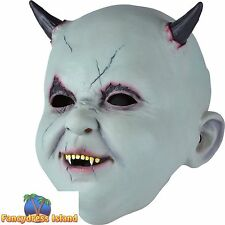 BABY DEVIL DEMON CHILD MASK HALLOWEEN Mens Adult fancy dress costume accessory