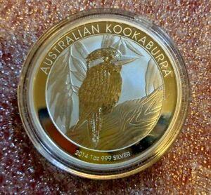 2014 Australian Perth Mint Kookaburra 1oz 999 Silver Coin