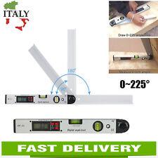 Finder Angolo Digitale Display 0~225°LCD Goniometro Inclinometro Misuratore