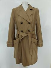 Principles Ben de Lisi Women's Trench Coat Mac Tie Belt  Blogger Beige 16 Petite