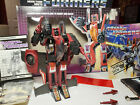 Transformers Thrust G1 Complete Box Decepticon Jet Original - Asgard\'s Vault