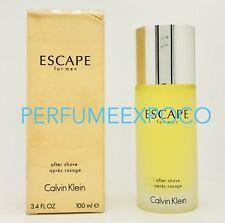ESCAPE For Men by Calvin Klein 3.4oz After Shave -VINTAGE FORMULA (HD12