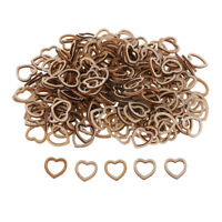 250pcs Hollow Wood Heart Embellishments Wooden Crafts Wedding Table Scatters